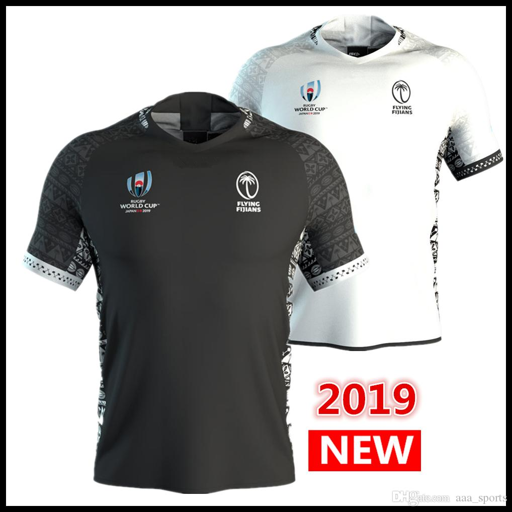DHL free shipping 2019 World Cup fiji home away Rugby Jerseys Rugby League shirt fiji union jersey shirts s-3xl