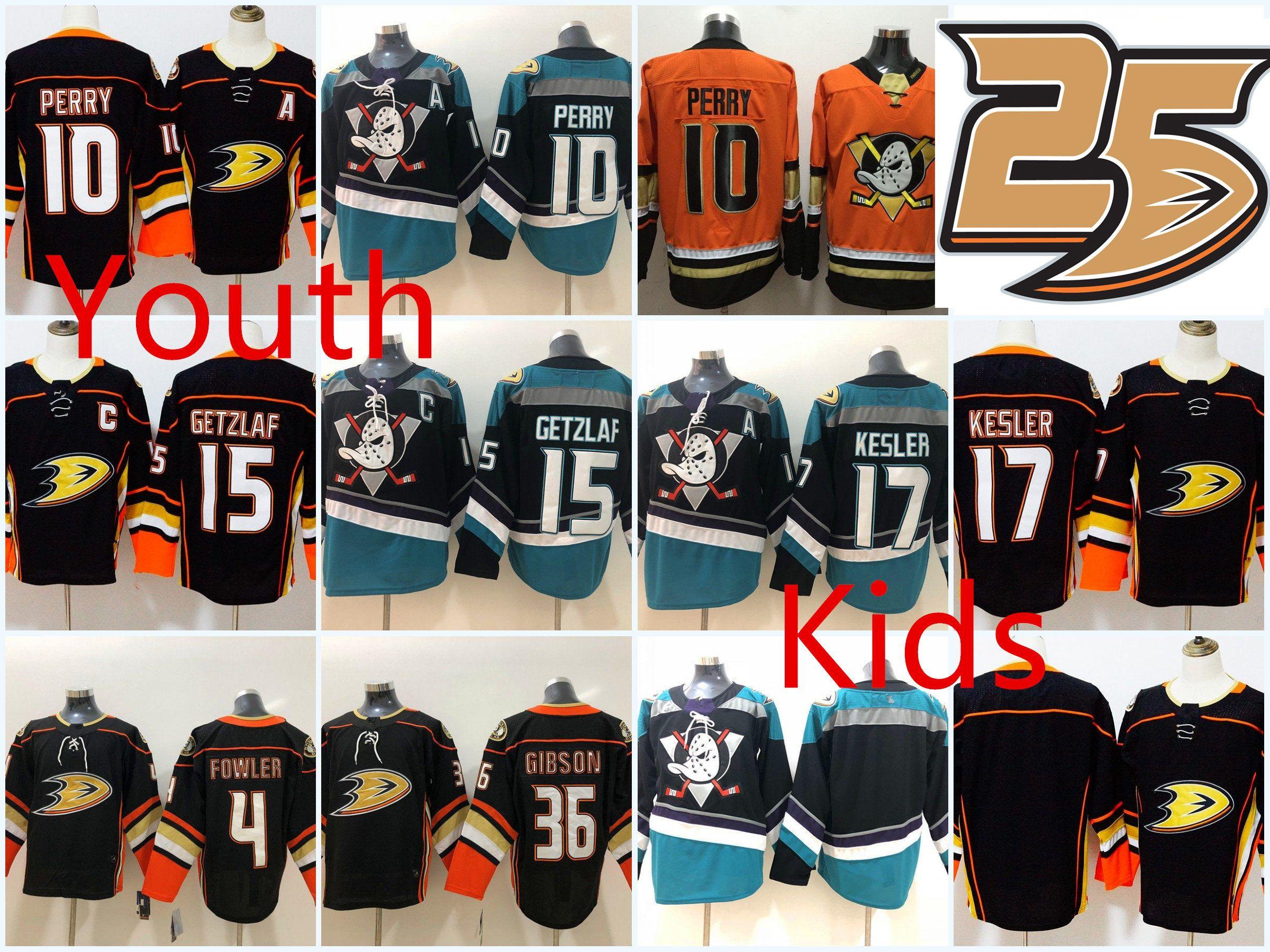 6cb3bd0c735 2019 Youth Anaheim Ducks Ryan Kesler Jersey Kids  4 Cam Fowler  10 Corey  Perry 36 John Gibson 15 Ryan Getzlaf Anaheim Ducks Jerseys From Xt23518