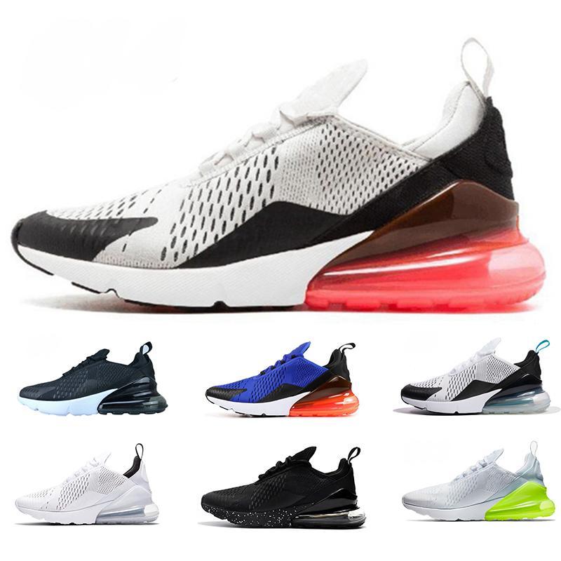outlet store bdd33 6138e 2019 Nike Air Max 270 Nuove scarpe da corsa Migliore qualità ESSERE VERE  Punch caldo Parra Teal Triple Bianco Nero Sport Outdoor Designer Sneakers  da ...