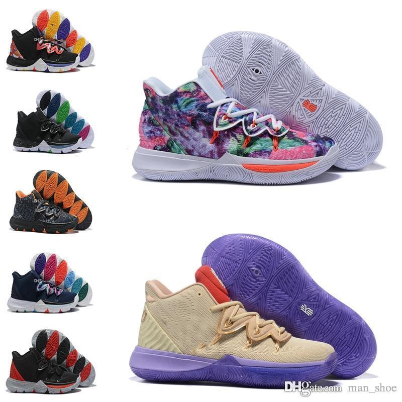 59b2e3b20968 2019 2019 Kids Designer Shoes Kyrie 5 V Boys Kids Trainers Lucky Charms  Shoes Sale Irving 5 Basketball 5s Shoes Youth Girls Women 32 39 From  Man shoe