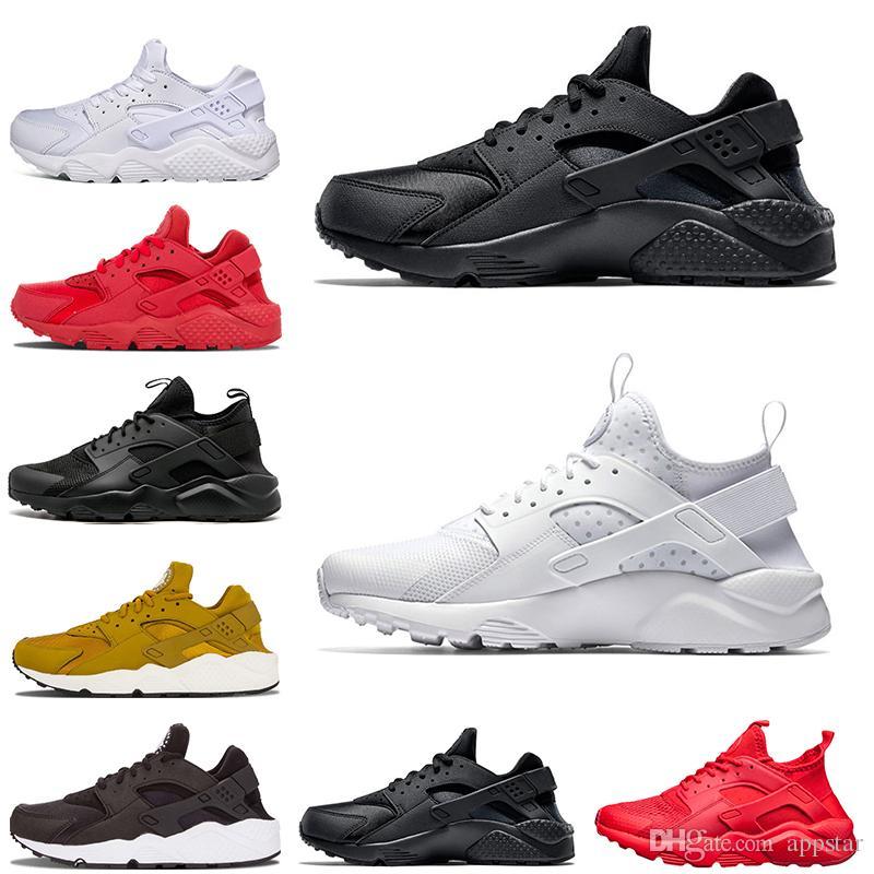 163a6bc905 Nuovo Huarache 4.0 1.0 Sneaker per scarpe da corsa da donna da uomo Triple  nero Huaraches da ginnastica traspirante Scarpe da esterno taglia 36-45