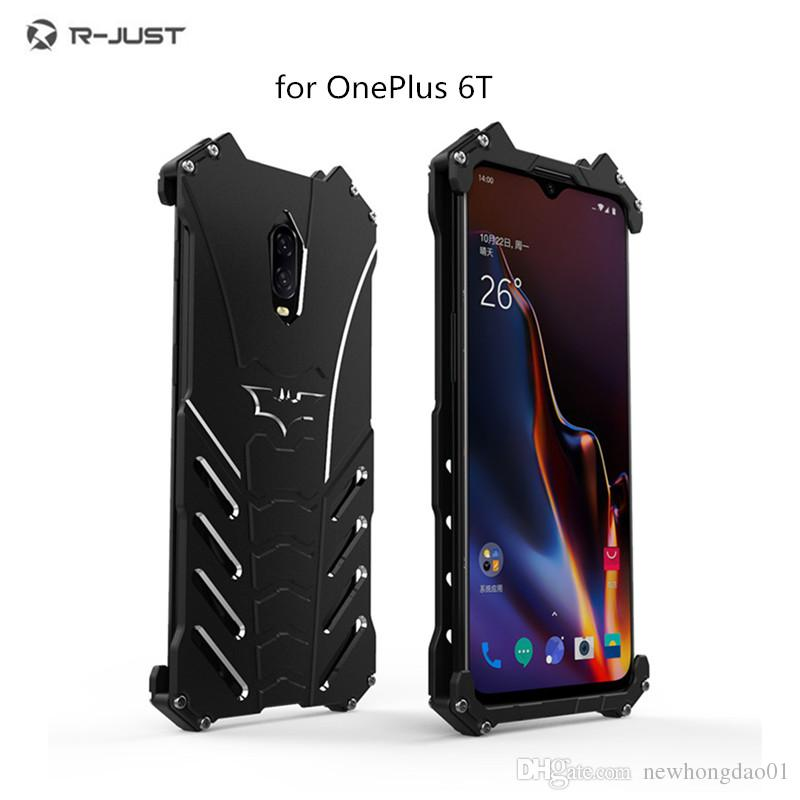 newest 84ab5 bb29b For OnePlus 6T Shockproof phone case Drop-proof Luxury Doom Heavy Duty  Armor Metal Aluminum Mobile Phone Bumper cases