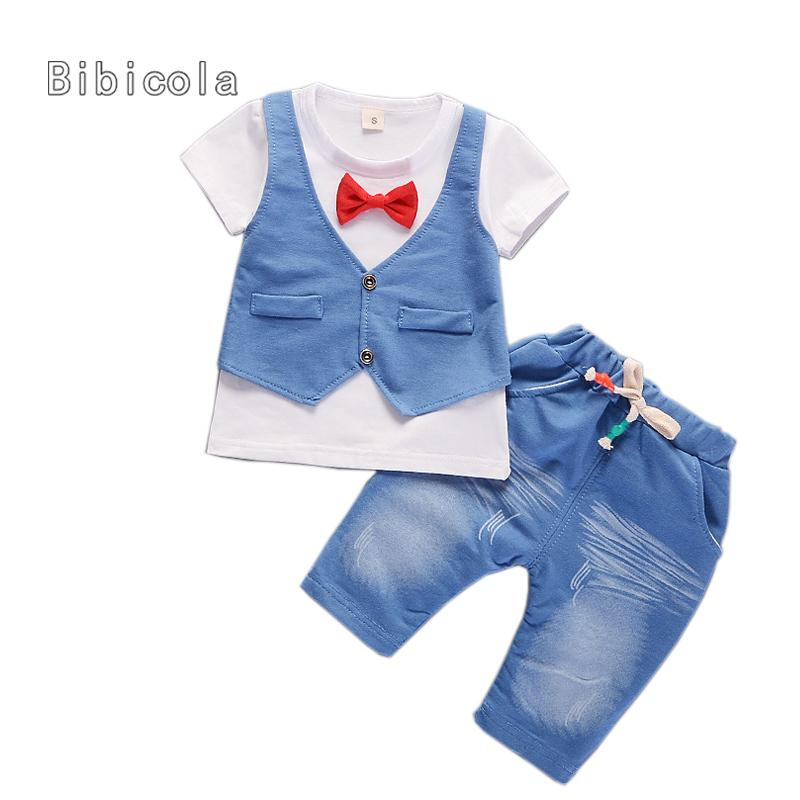 62bad0b30d4b 2019 Good Quality Summer Baby Boys Clothing Sets Children Boys Tops ...