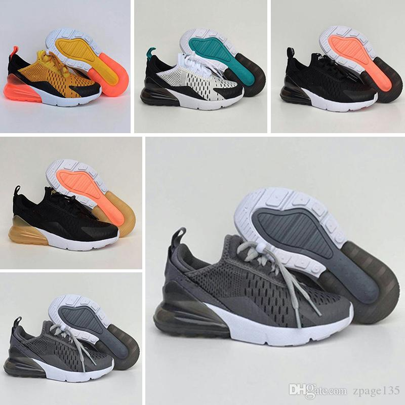 Nike air max 270 Chaussures de basket enfants pour enfants, chaussures de sport pour garçons, chaussures, taille de la livraison: 28 35