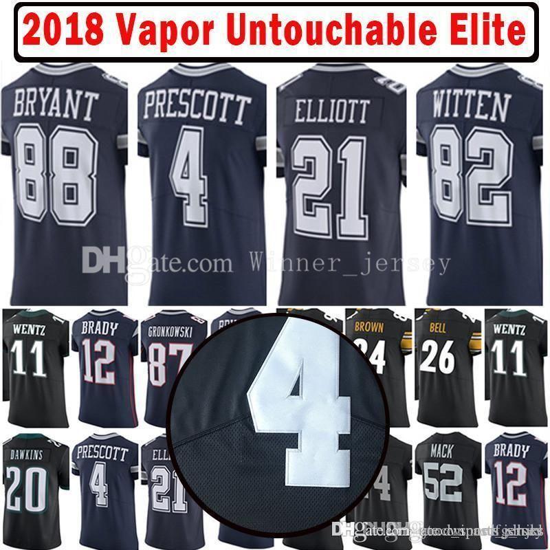 sale retailer 150b9 0b5fb 2017-18 4 Dak Prescott 21 Ezekiel Elliott Vapor Untouchable Elite Player  Jersey Men's 2018 New 82 Jason Witte 88 Dez Bryant Jerseys