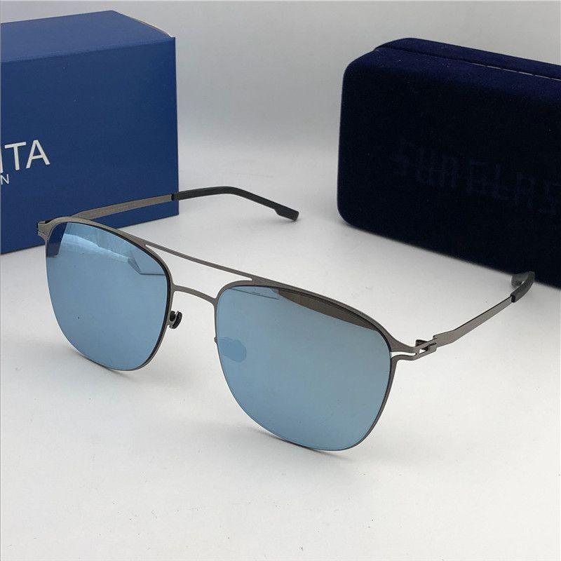 ba33188c76a415 New Mykita Sunglasses Ultralight Frame Without Screws MKT PELLE Square  Frame Top Men Brand Designer Sunglasses Coating Mirror Lens Suncloud  Sunglasses ...