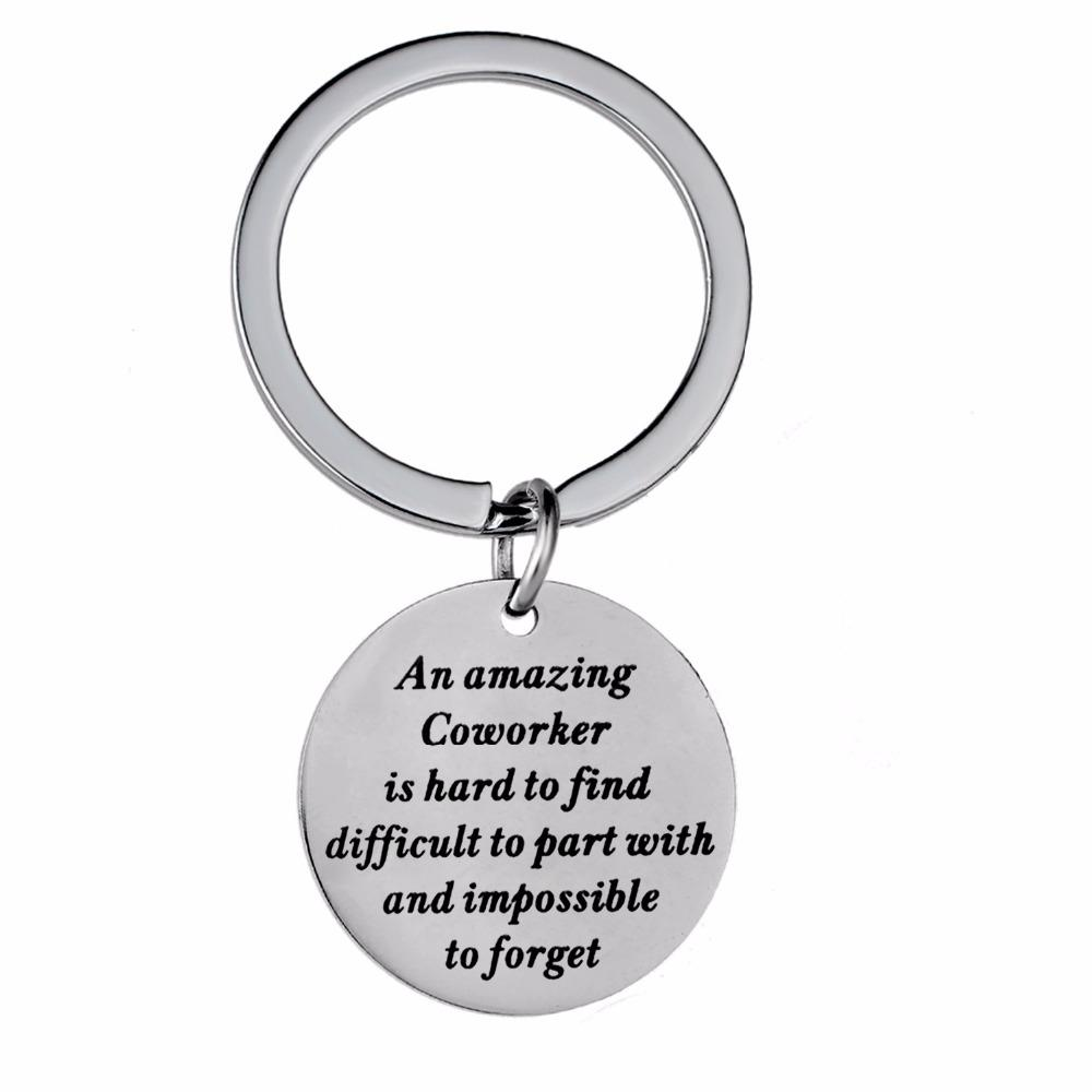 An Amazing Coworker Is Hard To Find Keychain Women Men Best Friend  Colleague Stainless Steel Keyring Friendship Jewelry UK 2019 From  Meinuo002 c0983a247b