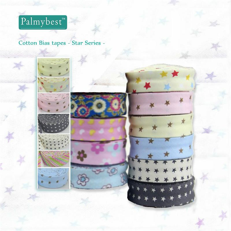 72677283e9ac 2019 Cheap Ribbons 1 25mm Wide Bias Tapes Single Fold Cotton Bias Binding  Tapes STARS Series DIY Craft Apparel Sewing Fabric 10meters From Toy1234