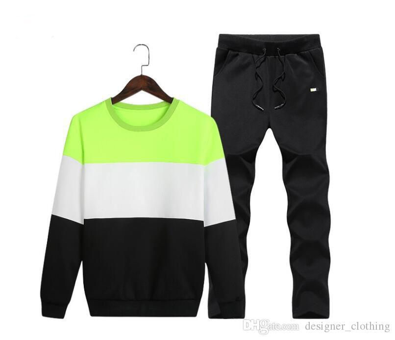 9962603add80 Acquista Abito Da Uomo A Maniche Lunghe Maglione Moda Casual Vestito  Sportivo Tuta Da Uomo In Due Pezzi Felpa 2018 Nuova Gioventù Sportswear A   22.34 Dal ...