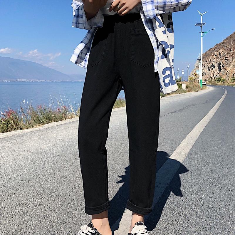 5b9c70e9de6 High Waist Straight Jeans For Women Casual Loose Jeans Femme Stylish ...