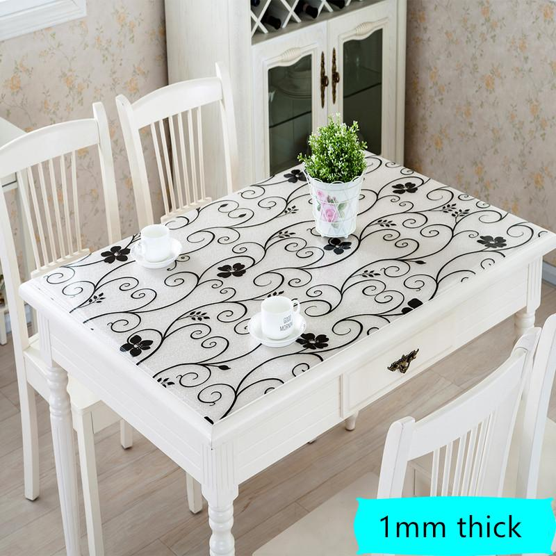 DHgate.com & 2018 New Creative Modern Pvc Table Cover Home Textile Waterproof Oil Cloth Soft Glass Tablecloth Placemat Pad Thickness 1.0mm