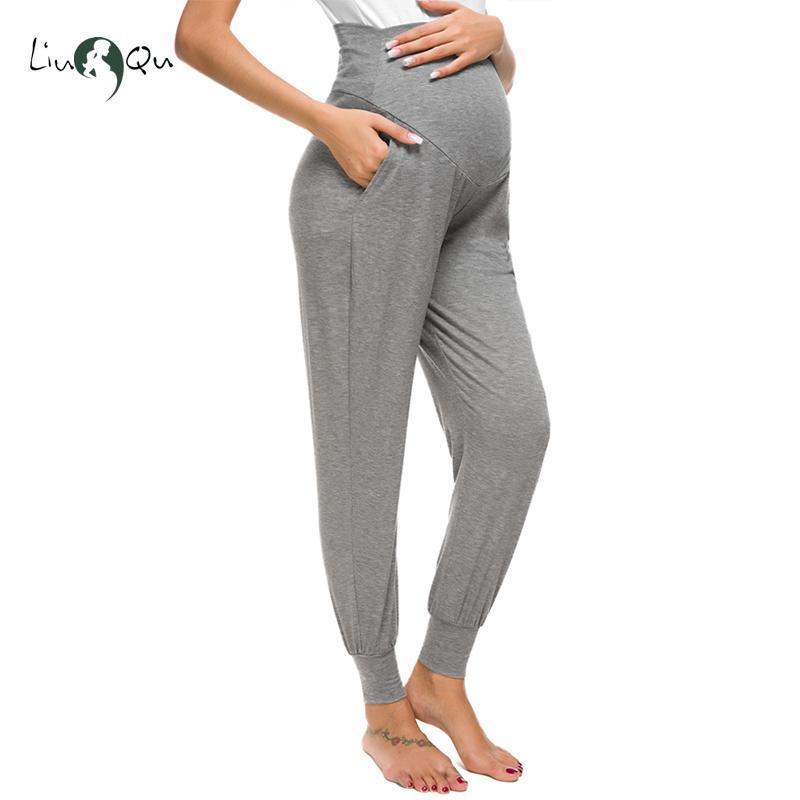 8beb9439d43 Maternity Pants Women s Maternity Super Stretch Secret Fit Belly Ankle  Skinny Work Pant Harem Pregnancy Pants Premama 3 Colors Y19052003