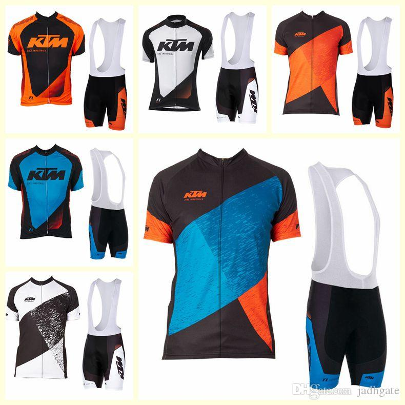 KTM team Cycling Short Sleeves jersey bib shorts sets cycling clothing breathable outdoor mountain bike U121317