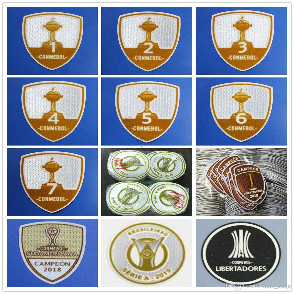 2019 2020 Brasileiro Serie A Campeonato Patch Emblema Copa América  Libertadores 1 2 3 4 5 6 7 Conmebol Campeon 2016 2017 2018 Soccer Patches