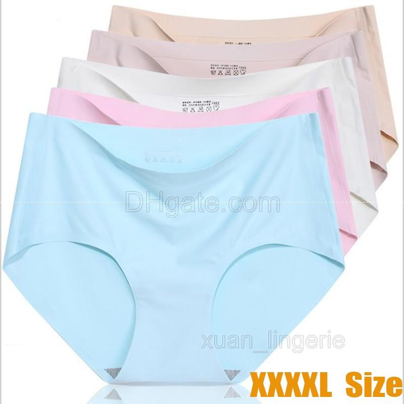 125476e2aa 4XL Ice Silk Seamless Panties Sexy Briefs Women Underwear Panties for Girls  Ladies Bikini Panty Mid-Rise Ice Silk Panties Panties for Girls Underwear  ...