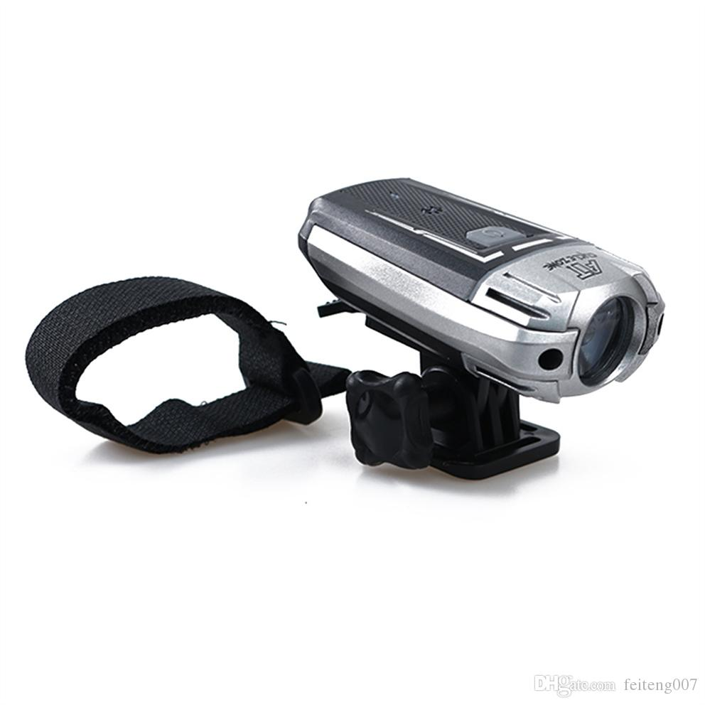1PC 4 Modes Safety Bicycle Light USB Rechargeable Headlight Helmet Night Lighting Handlebar Front Flashing Bike Riding Light #738586