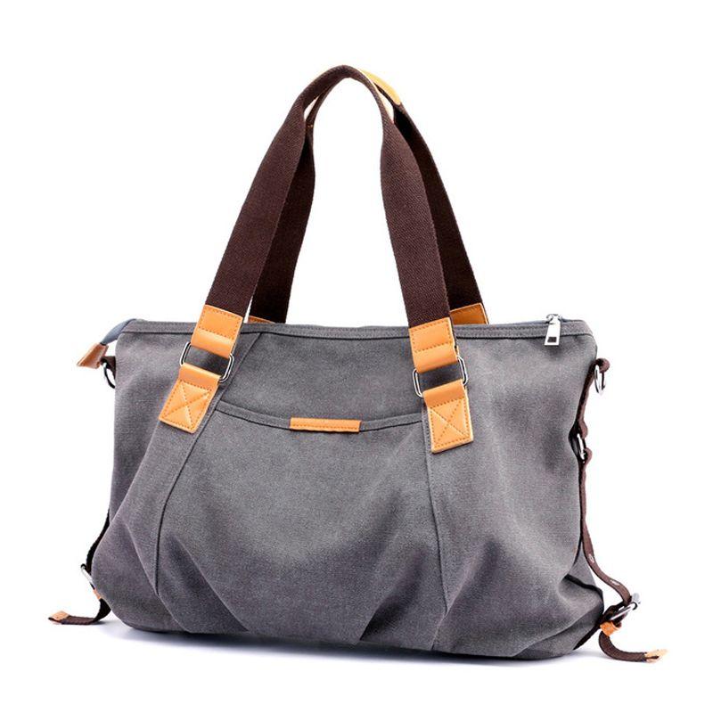 3817b526f6 Kvky Brand New Women Canvas Handbag Large Capacity Women S Shoulder Bag  Messenger Bag Women S Shopping Bags Bolsa Leather Handbag Red Handbags From  ...
