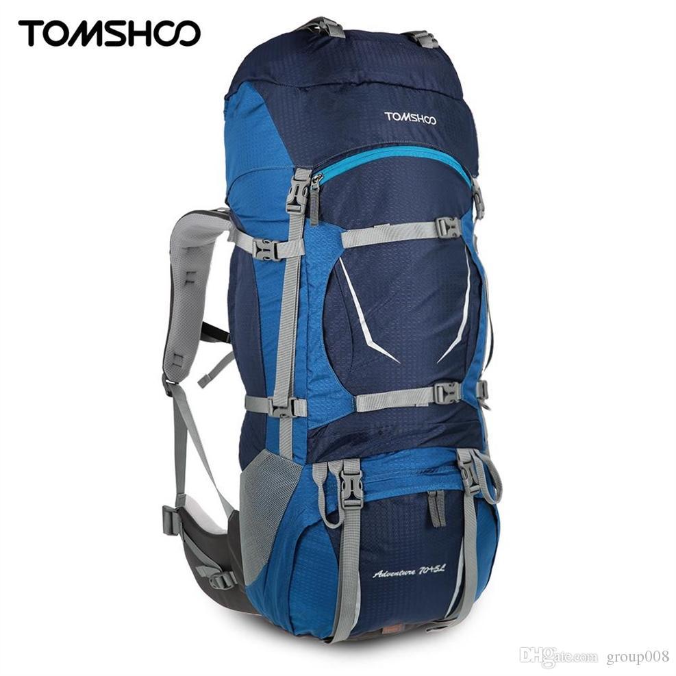 2482aa757802 TOMSHOO 75L Outdoor Bags Camping Bag Travel Climbing Backpack Waterproof  Internal Frame Backpack Trekking Bag with Rain Cover #782759