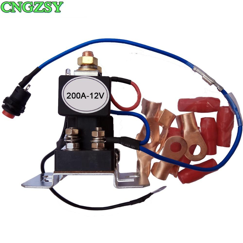Fabulous 200 Amp Battery Isolator Relay 4 Terminal Dual Battery Switch Dc 12V Wiring Cloud Hisonuggs Outletorg