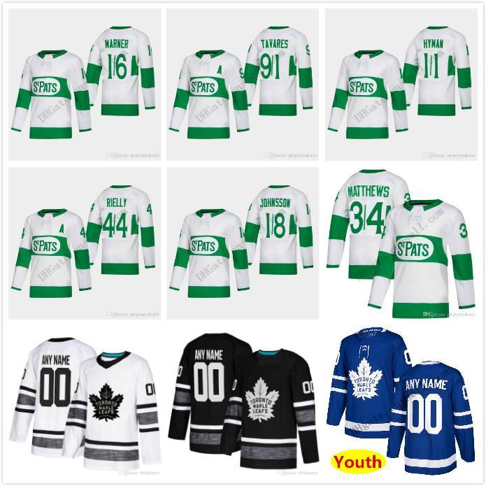 competitive price 9eb7f 54e3f 16 Mitch Marner 2019 St. Pats Toronto Maple Leafs Patrick Marleau Frederik  Gauthier Zach Hyman Nazem Kadri Par Lindholm 34Matthews Jerseys