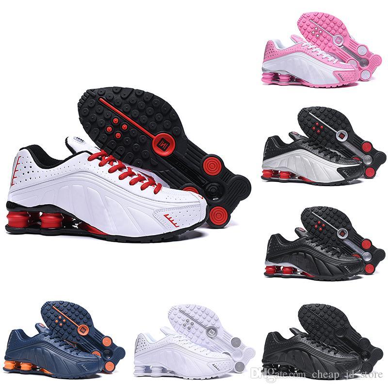 online store f7ce1 58dee Compre Nike Air Shox Shox R4 OG 301 Zapatillas De Running Para Hombre Mujer  Triple Blanco Negro Rojo Azul Marino Oro Plata Entrenador Tenis Deportes ...