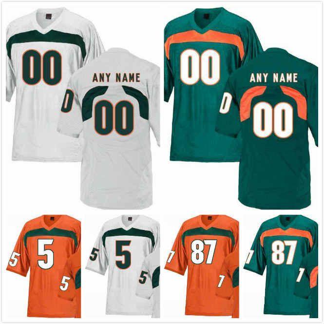 the latest d2f67 4022d NKosi Perry Jersey 5 Michael Pinckney 56 Joe Jackson 99 Tate Martell 18  Michael Irvin II 87 Miami Hurricanes Jerseys 2019 Stitched S-3XL