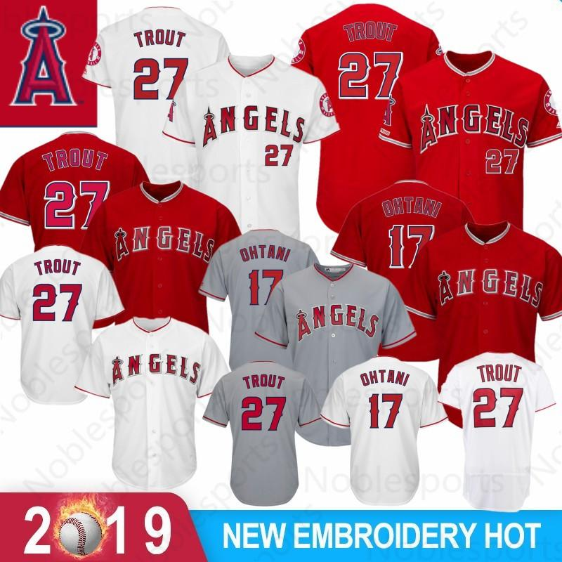 bdb02b2a9 2019 Mens Los Angeles Jersey Ange 17 Shohei Ohtani 27 Mike Trout Cool Base  Flex Base Baseball Jerseys Size M Xxxl From Noblesports