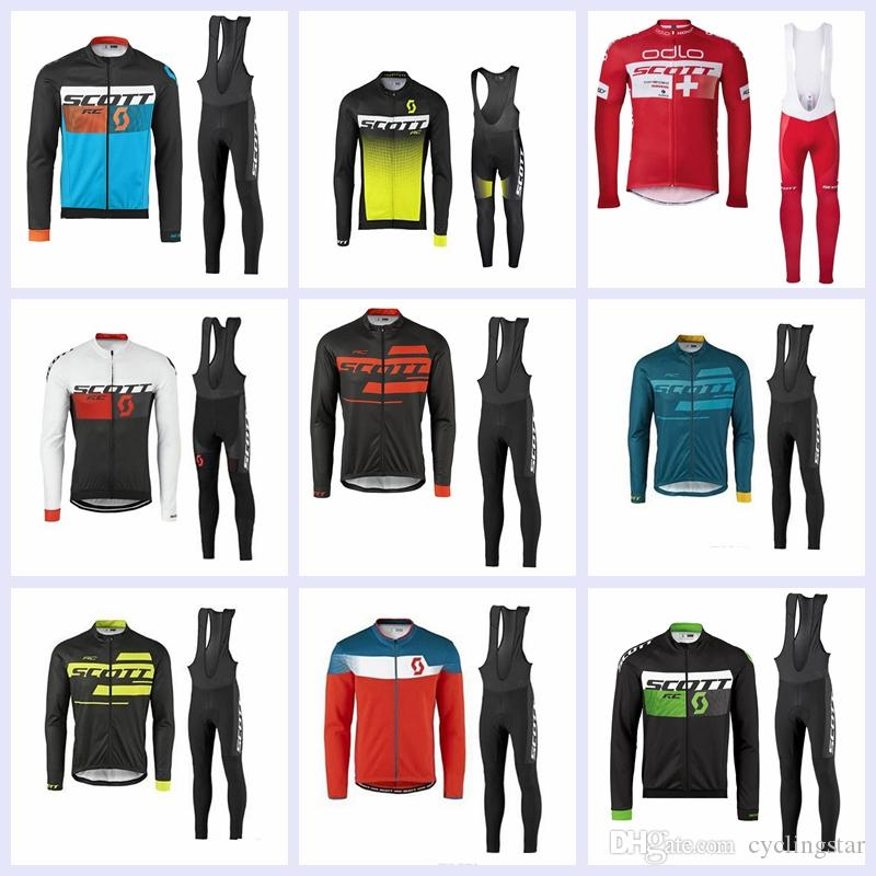 e79234b45 2019 Autumn Scott Cycling Jersey Bike Long Set Ropa Ciclismo Quick Dry Mens  Long Sleeve Pro Cycling Wear Bicycle Maillot Culotte C1501 Cycling Short  Bicycle ...