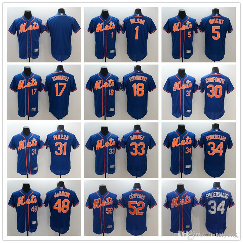 another chance 4ffcc 0660c New York Mets 32 Steven Matz 34 noah syndergaard 2017 Baseball Jersey Cheap  Rugby Jerseys Authentic Stitched Free Shipping