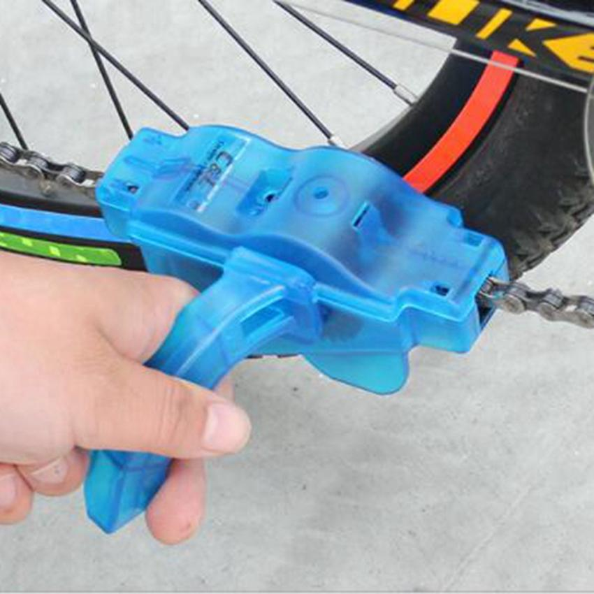 Bicycle Chain Cleaner Machine Cycling Bike Brushes Scrubber Wash Clean Tool Bicycle mountaineer Tool kits LJJZ359