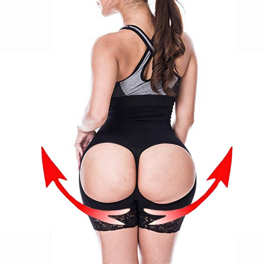 2019 Sexy Open Butt Lifter With Tummy Control Booty Lifter Bum Waist Trainer Body Shaper Big Ass Fajas Colombianas Hollow Out From Linglon 46 37 Dhgate