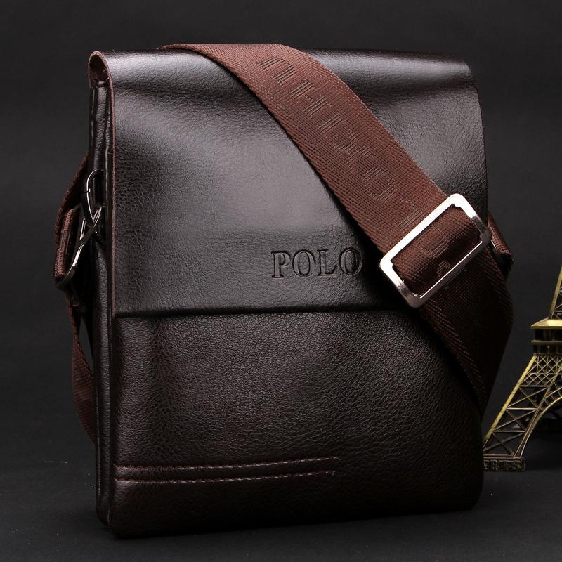 Мужские сумки из натуральной кожи через плечо polo