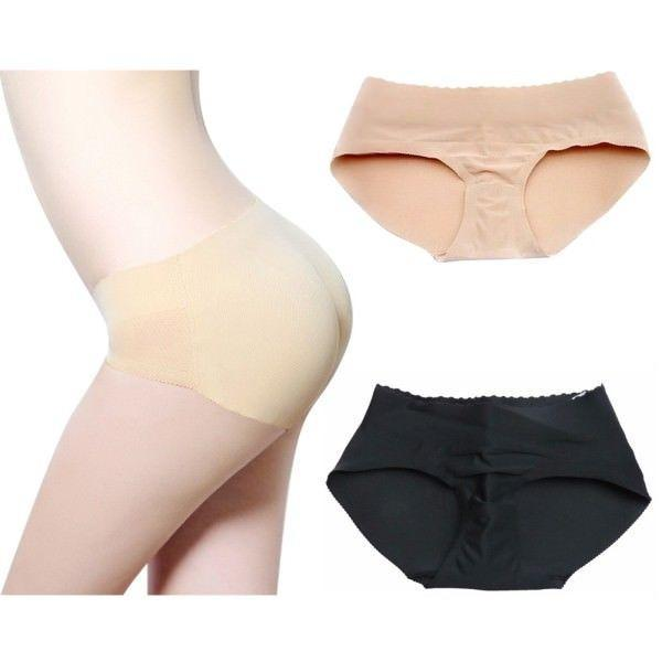 adb7ae2ae 2019 Latex Waist Trainer Butt Lifter Panties Women Sexy Underwear Slimming Pants  Fake Ass Booty Padded Panty Ass Enhancer Up Hips MMA1230 From ...