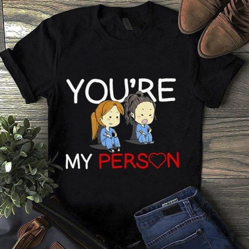 Grey S Anatomy You Re My Person T Shirt Black Cotton Men S 6xl Us