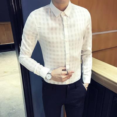 Dropshipping Kleid Shirt Männer 2019 Koreanische Mode Langarm Casual Shirts Solide Farbe Baumwolle Business Social Männer Kleidung Hemden Herrenbekleidung & Zubehör