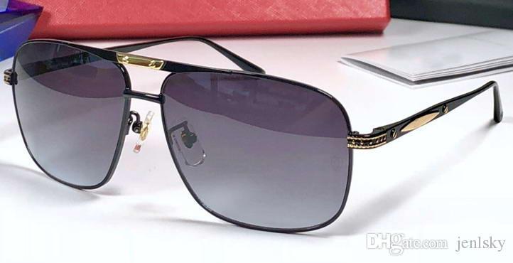9c9ea7233 Compre Luxo Preto Atitude Óculos De Sol Cinza Gradiente Sonnenbrille  Designer De Luxo Óculos De Sol Óculos Homens Novo Com Caixa De Jenlsky, ...