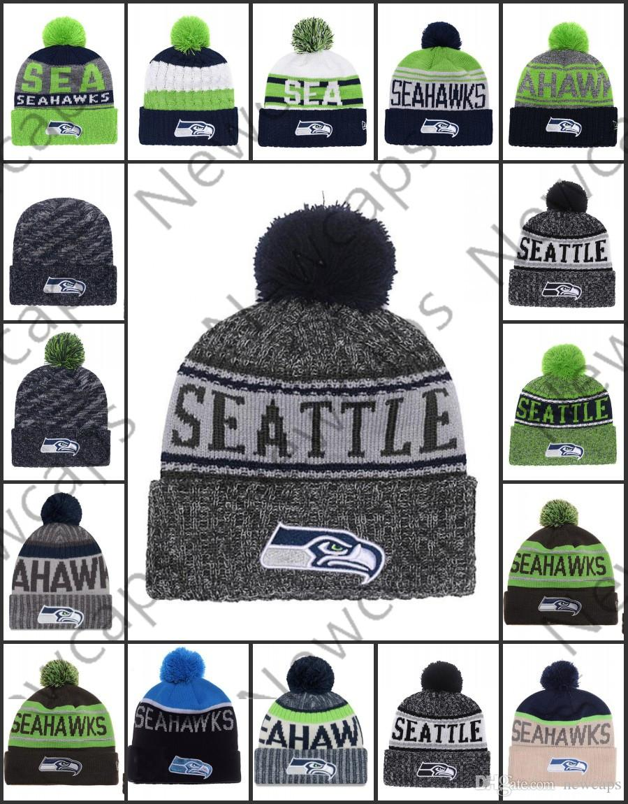 c767cdd8fb4bb Wholesale Seattle Sport Winter Hats Seahawks Stitched Team Logo ...