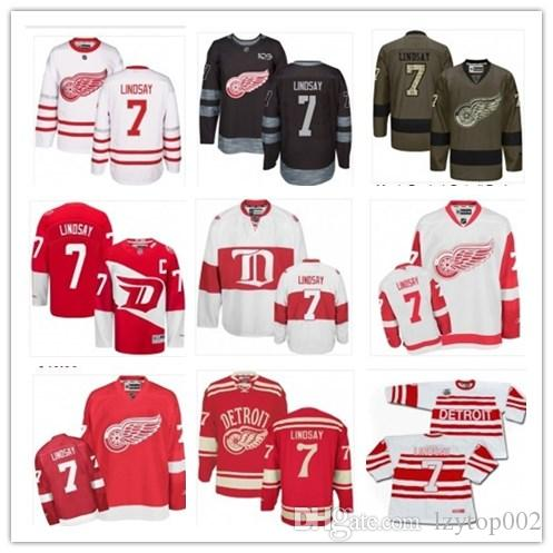 uk availability e36c5 bf972 top can Detroit Red Wings Jerseys # 7 Ted Lindsay Jersey  men#WOMEN#YOUTH#Baseball Jersey Majestic Stitched Professional sportswear