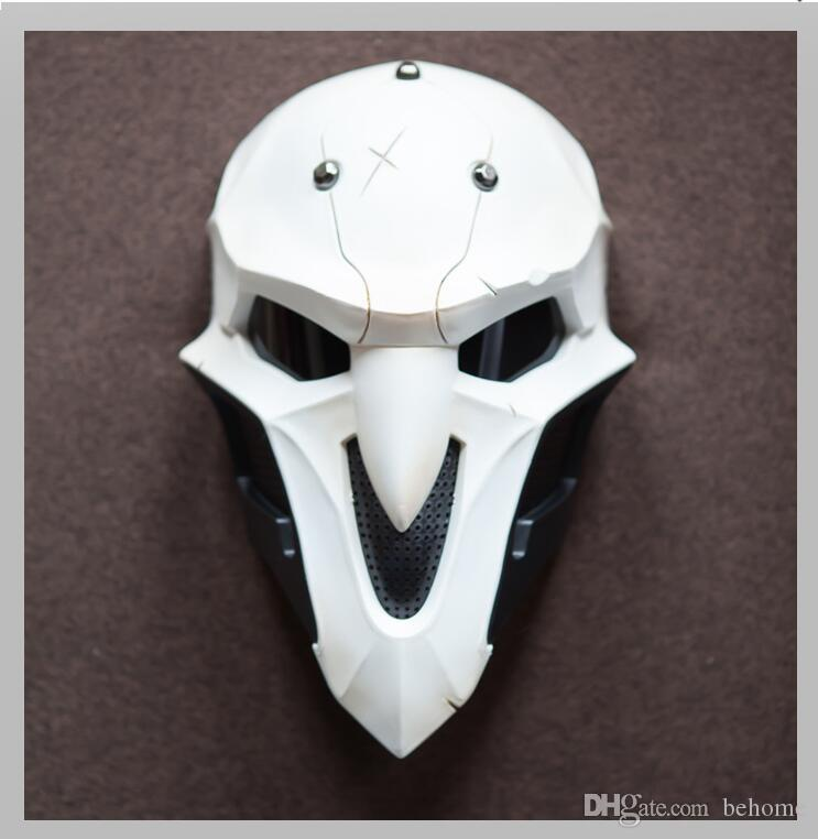 Halloween Fancy Dress Costume White Death Mask Cosplay Halloween Party Mask Toy Peripheral Model Special Postage