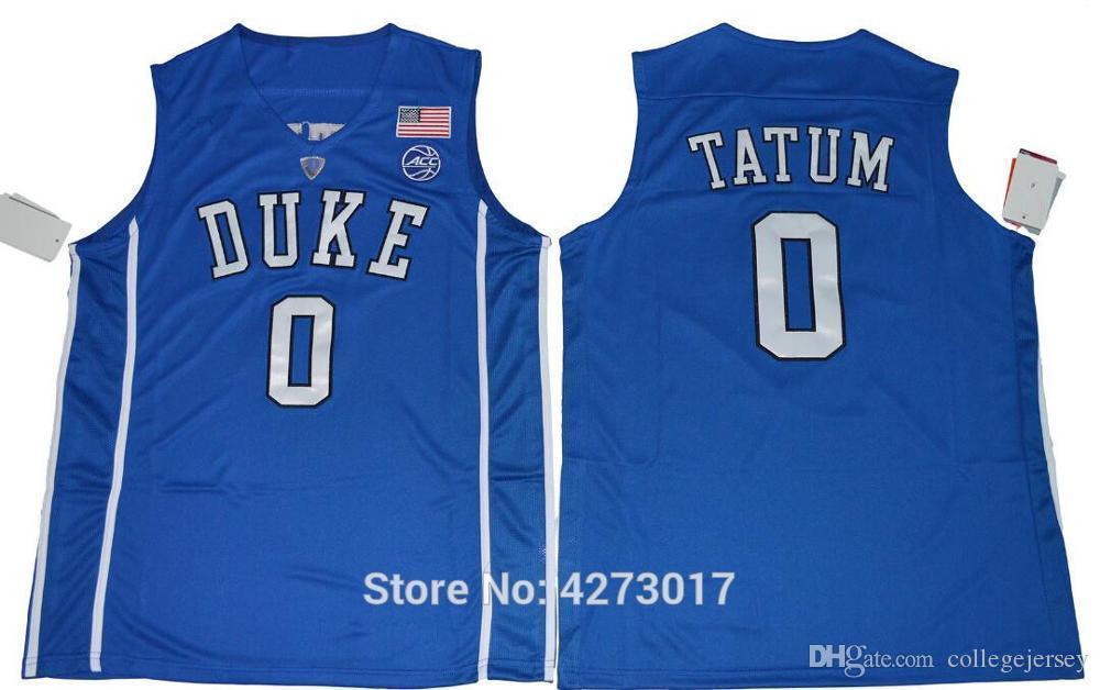 new style f4120 b9694 Mens Duke Blue Devils 0 Jayson Tatum Jersey Men Black Blue White Basketball  Tatum College Jerseys Sports Uniform Stitched Ncaa