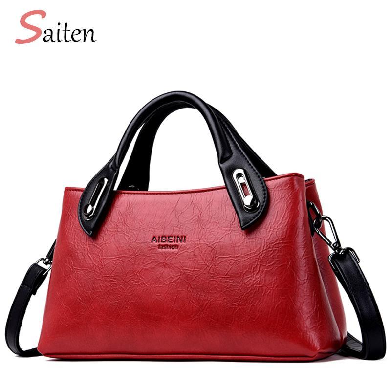 2019 Luxury Handbags Women Bags Designer PU Leather Handbags Women Shoulder  Bag Fashion Female Bag Vintage Bolsa Feminina Leather Bags Designer Purses  From ... c97d3a3f098e2