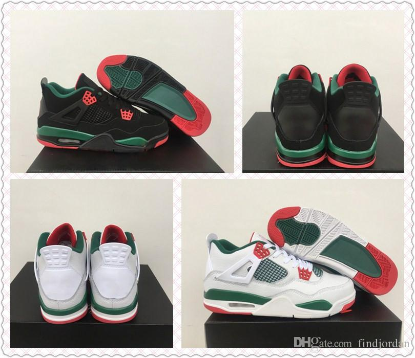 1c942b5b66768a 2019 2019 New Arrival 4 NRG Mens Basketball Shoes White Black Gorge Green Varsity  Red 4s Designer Jumpman Sports Sneakers Size 8 13 From Findjordan
