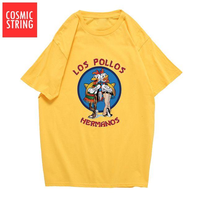 2dd4e9f943 Compre Marca De Ropa De Diseñador Para Hombre Polo Hombre Moda Rompiendo Camiseta  Mala LOS POLLOS Hermanos Camiseta Pollo Hermanos Camisetas De Manga Corta  ...