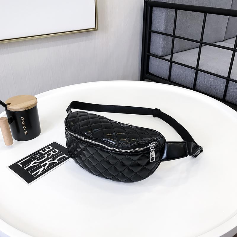 b37008923c40b 2018 Fanny Pack Women Waist Bag Summer Hip Bags Travel Fashion Bum Bag  Female Waist Bag Belt Zipper Pouch Bags Black