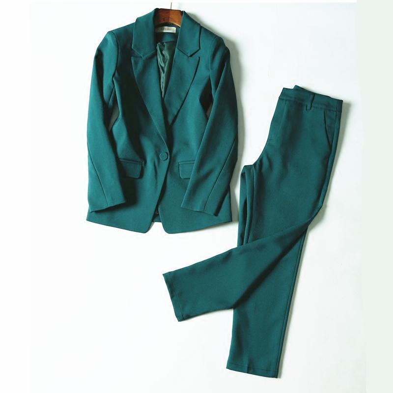 b4fa953bb Compre Trajes De Pantalón De Trabajo Juego De 2 Piezas OL Para Mujer Traje  De Entrevista De Negocios Conjunto Uniforme