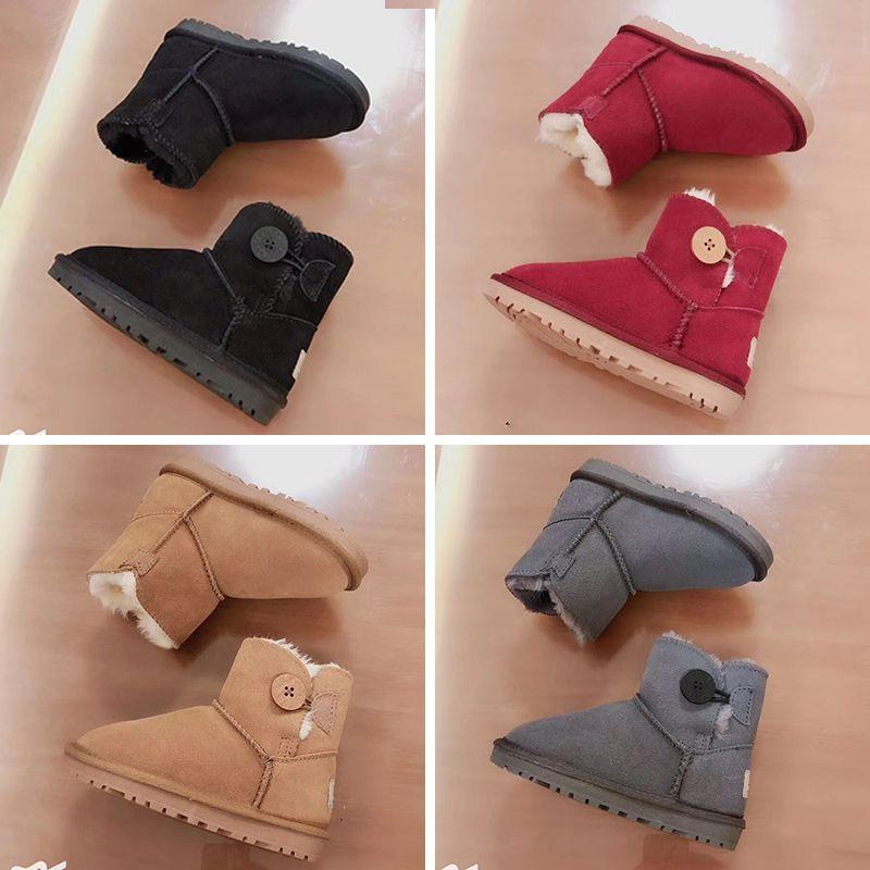 13767c1023 Compre Ugg Boots Meninas Botas De Cano Alto Meias De Cristal Botas Meados  De Diamantes De Inverno Outono Genuíno Couro Crianças Sapatos De Fundo  Macio ...