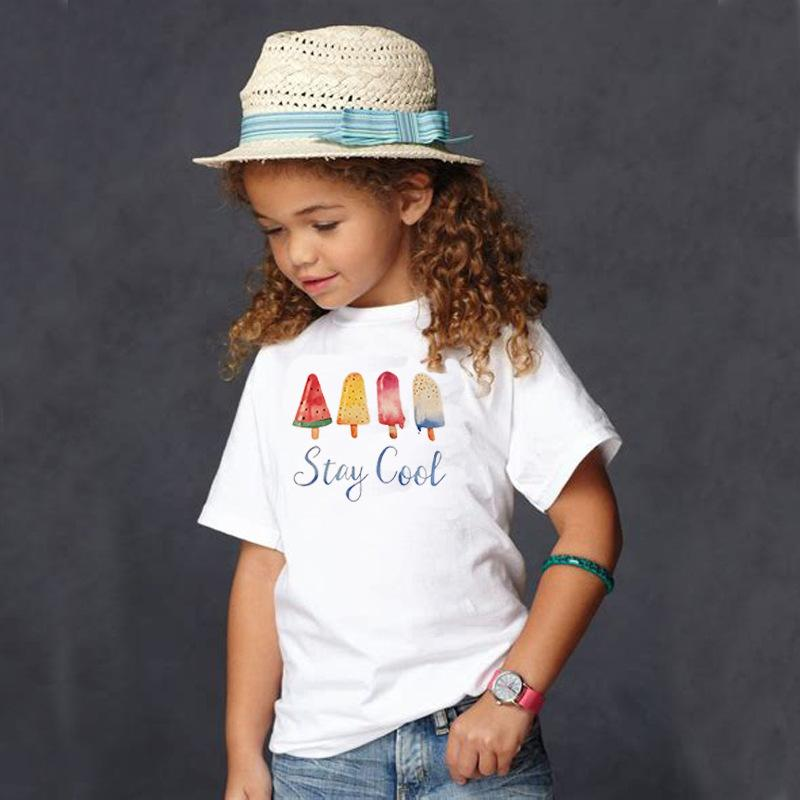 100% Cotton Print Boys Girls Tops 2019 Summer Character Children T Shirts Kids Clothes Tee Shirts Baby Clothing Outwear Ss426