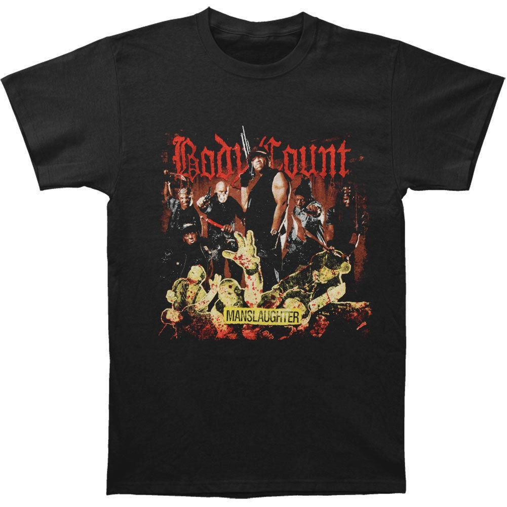 Body Count Hombres Manslaughter Camiseta Negro