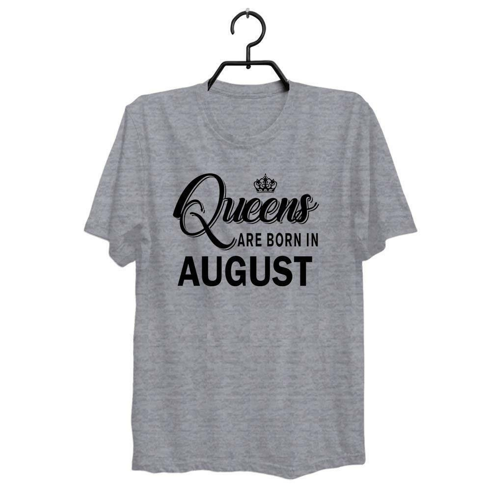 ac6d3945f942cd QUEENS ARE BORN IN AUGUST BIRTHDAY GIRL LEO VIRGO WOMENS SHIRT SIZE S XXXL  ZM1Funny Unisex Casual Tshirt Top Awesome T Shirts Cotton Shirts From ...