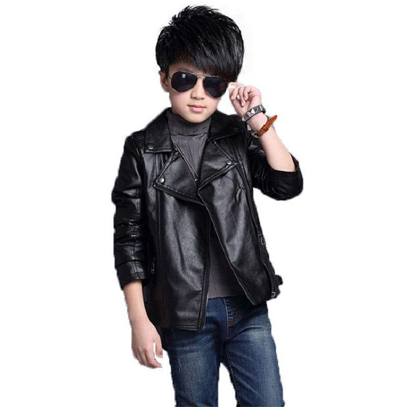 e8a09a3c9 Good Quality Kids Boys Jacket 2019 New Brand Fashion Children'S PU Leather  Motorcycle Jacket Autumn Spring Children Boy Tops Clothes Boys Rain Jackets  Kids ...